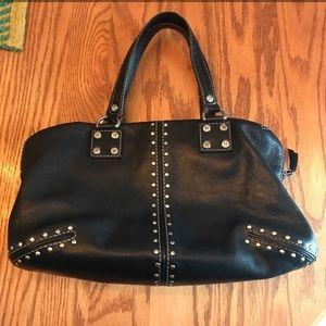 Michael Kors Black Leather Studded Handbag